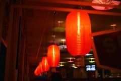 Traditionell Kina lykta eller röd lampa Kinesiska lyktor till celeben Royaltyfri Bild
