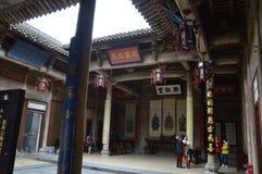 traditionell kinesisk borggård Fotografering för Bildbyråer