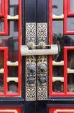 traditionell kinesisk dörr Arkivbild