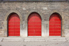 traditionell kinesisk dörr Fotografering för Bildbyråer