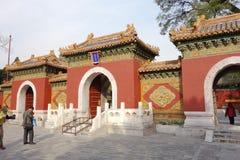traditionell kinesisk dörr Arkivbilder