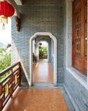 Traditionell kinesisk korridor arkivbilder