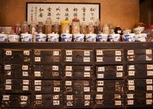 traditionell kinesisk medicin för porslin Fotografering för Bildbyråer