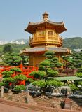 traditionell kinesisk paviljong Royaltyfri Foto