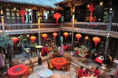 Traditionell kinesisk restaurang Royaltyfria Foton