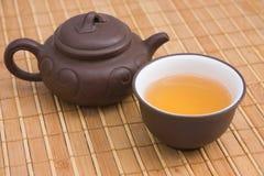traditionell kinesisk tea för keramik Arkivbilder