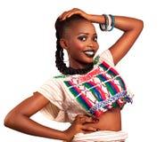 Traditionell klänning för afrikansk skönhet Arkivfoton