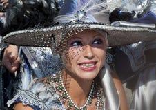 traditionell klänninghed royaltyfria foton