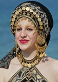traditionell klänninghed royaltyfria bilder