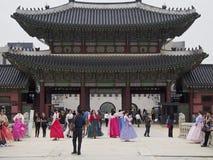 traditionell klänningkorean Fotografering för Bildbyråer