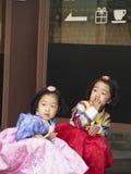 traditionell klänningkorean Royaltyfri Fotografi