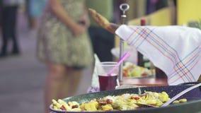 Traditionell kokkonst för spansk festival close upp arkivfilmer