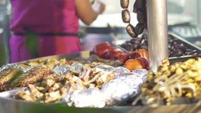 Traditionell kokkonst för spansk festival close upp lager videofilmer