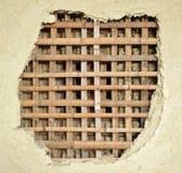 Traditionell konstruktion för bambugyttjavägg arkivfoton