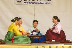 Traditionell koreansk teceremoni royaltyfria bilder