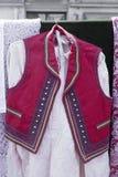 Traditionell kroatisk waistcoat royaltyfria foton