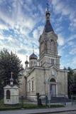 Traditionell kyrka i Riga Arkivbilder