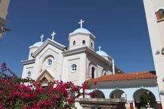 Traditionell kyrka på den Kos ön i Grekland Arkivfoto