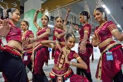 traditionell lankan sri för dansare Arkivbild
