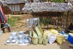 Traditionell malagasy gatamarknad Royaltyfri Fotografi