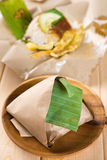 Traditionell malaysisk frukost för Nasi lemak fotografering för bildbyråer