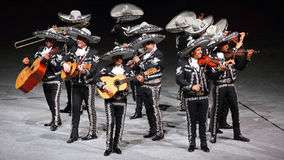 Traditionell Mariachimusikmusikband, Mexico arkivbilder