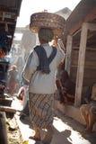 Traditionell marknadsatmosfär Royaltyfria Bilder