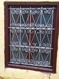 Traditionell marockansk fönsterdesign royaltyfri foto