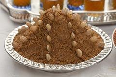 Traditionell marockansk mandelsellou Arkivbild