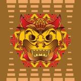 traditionell maskering stock illustrationer