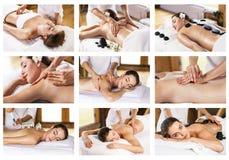Traditionell massagecollage arkivbilder