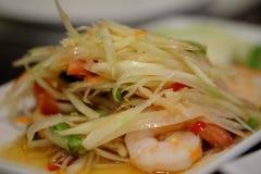 Traditionell mat av Thailand: Son Tam Arkivfoton