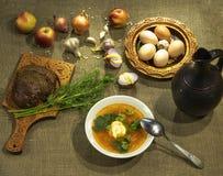 Traditionell mat som hemma lagas mat royaltyfri bild