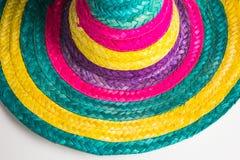 Traditionell mexicansk hatt med färger royaltyfri fotografi