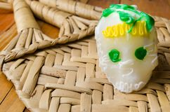 Traditionell mexikan Sugar Skull royaltyfria bilder