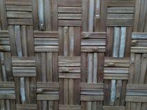 Traditionell modell av bambuväggen arkivfoto