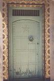 Traditionell moroccan dörrdetalj i Chefchaouen, Marocko, Afrika Royaltyfri Foto
