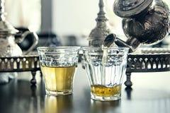 traditionell moroccan tea för mint Royaltyfri Bild