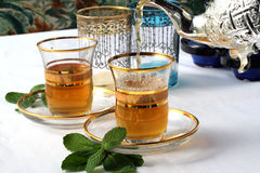 traditionell moroccan tea för mint Royaltyfria Foton