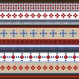 Traditionell nordlig prydnad stock illustrationer