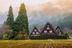 Traditionell och historisk japansk by Shirakawago Fotografering för Bildbyråer