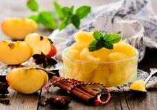 Traditionell organisk sund äpplekompott Royaltyfria Foton