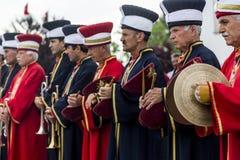 Traditionell ottomanarmémusikband Arkivfoton