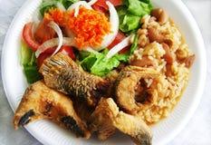 Traditionell platta av flodfisken Arkivbild