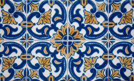 Traditionell portugis glasade tegelplattor Royaltyfri Fotografi