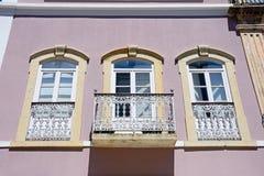 Traditionell portugisisk byggnad, Silves, Portugal Royaltyfri Foto