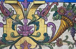 Traditionell portugisisk tegelplatta Royaltyfri Foto