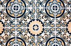 Traditionell portugisisk tegelplatta Fotografering för Bildbyråer