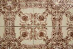 Traditionell portugisisk tegelplatta Arkivfoto