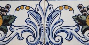 Traditionell portugisisk tegelplatta Royaltyfria Foton